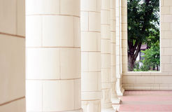 Columns of a Courthouse Royalty Free Stock Images