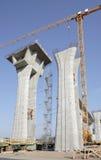 Columns and crane Royalty Free Stock Photos