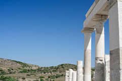 Columns in Delos Stock Photo