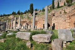 Columns in delphi. Columns in ancient - delphi , greece royalty free stock photos