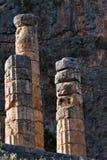 Columns at Delphi stock photo
