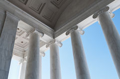 Columns Detail At The Jefferson Memorial Royalty Free Stock Photos