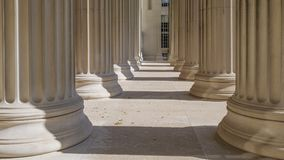 Columns. Detail of some neoclassical columns royalty free stock photo