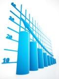 Columns of diagram Royalty Free Stock Image