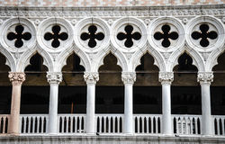 Columns of Doges palace Royalty Free Stock Photo