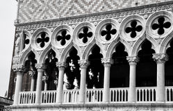 Columns of Doges palace Stock Images