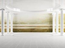 Columns in empty room Stock Image