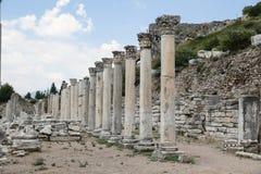 Columns in Ephesus Ancient City Stock Photo