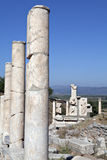 Columns in Ephesus city. Izmir, Turkey Stock Photography