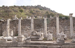 The columns in Ephesus Royalty Free Stock Image