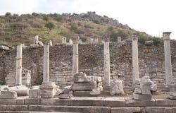 The columns in Ephesus Royalty Free Stock Image