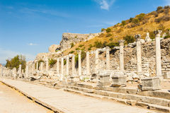 Columns in Ephesus Stock Photo