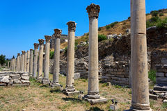 Columns at Ephesus, Turkey Stock Photo