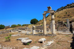 Columns at Ephesus, Turkey Royalty Free Stock Photography