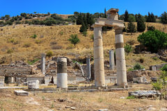 Columns at Ephesus, Turkey Royalty Free Stock Photo