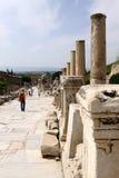 Columns of Ephesus, Turkey. Columns in the ancient town of Ephesus, Turkey Royalty Free Stock Images