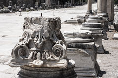 Columns of Ephesus Turkey Royalty Free Stock Photo