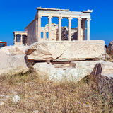 Columns of Erechteion, Acropolis, Athens. Erechteion of Acropolis, Athens, Greece Stock Photography