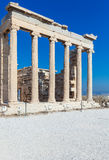 Columns of Erechteion, Acropolis, Athens. Erechteion in Acropolis, Athens, Greece Stock Photography