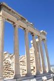 Columns of Erechtheum ancient temple Royalty Free Stock Photo