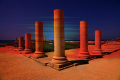 Columns fantasy sunset Royalty Free Stock Image