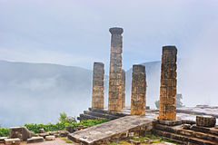 Columns in the fog Royalty Free Stock Photos