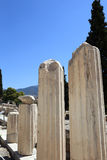 Columns at foot of Acropolis Stock Images