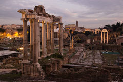 Columns of Fori Imperiali and Colosseum, Rome Stock Photos