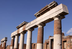 Columns in the Forum stock photography