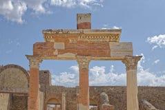 Columns of Forum. Image taken of the Columns of Forum, Pompeii  (Unesco World Heritage List, 1997), campania, italy, rome Royalty Free Stock Photo