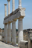 Columns At Forum In Pompeii, Italy. Columns and ruins at the Forum in Pompeii, Italy royalty free stock photography