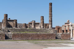 Columns in the forum in Pompeii Royalty Free Stock Photography