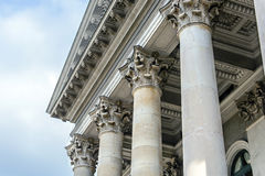 Columns in front of facade roof Stock Photos