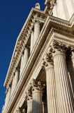 Columns at the front of St Pauls Cathedral, London Stock Images
