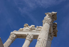 Columns and fronton parts Stock Photography