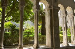 Columns and garden Stock Photography