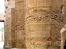 Columns of Great hypostyle hall  in  Karnak Temple Stock Image