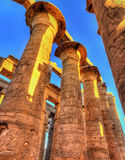 Columns in the Great Hypostyle Hall, Karnak temple Stock Photography