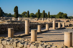 Columns from Greco roman ruins of Emporda. Columns of Greco roman ruins of Emporda, Costa Brava, Catalonia, Spain Stock Photos