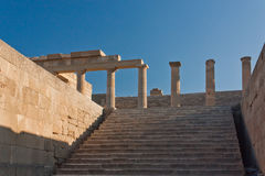 Columns of Greek acropolis Royalty Free Stock Photography