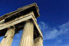 Columns. Greek ancient monument in Athens Stock Photography