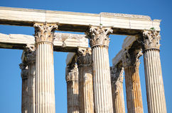 Columns of greek temple Stock Image
