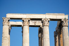 Columns of greek temple Royalty Free Stock Photography