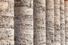 Columns of greek temple of Segesta, Sicily Royalty Free Stock Photography