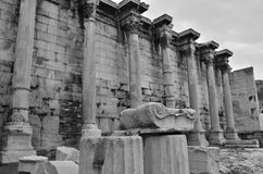 Columns at Hadrians Library Royalty Free Stock Photography