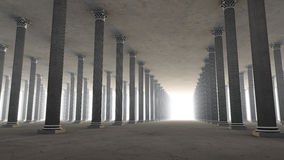 Columns hallway Royalty Free Stock Photography