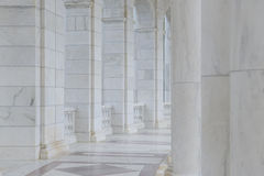 Columns in a Hallway Royalty Free Stock Photo