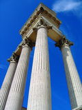 Columns of Harbour Temple in Archaeological Park in Xanten, North Rhine-Westphalia, Germany Stock Photography