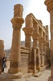 Columns of Hathor head goddess, Egypt Stock Photos