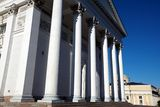 Columns of Helsinki Cathedral Royalty Free Stock Photography